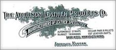 Atchison Leather Company Vintage logo